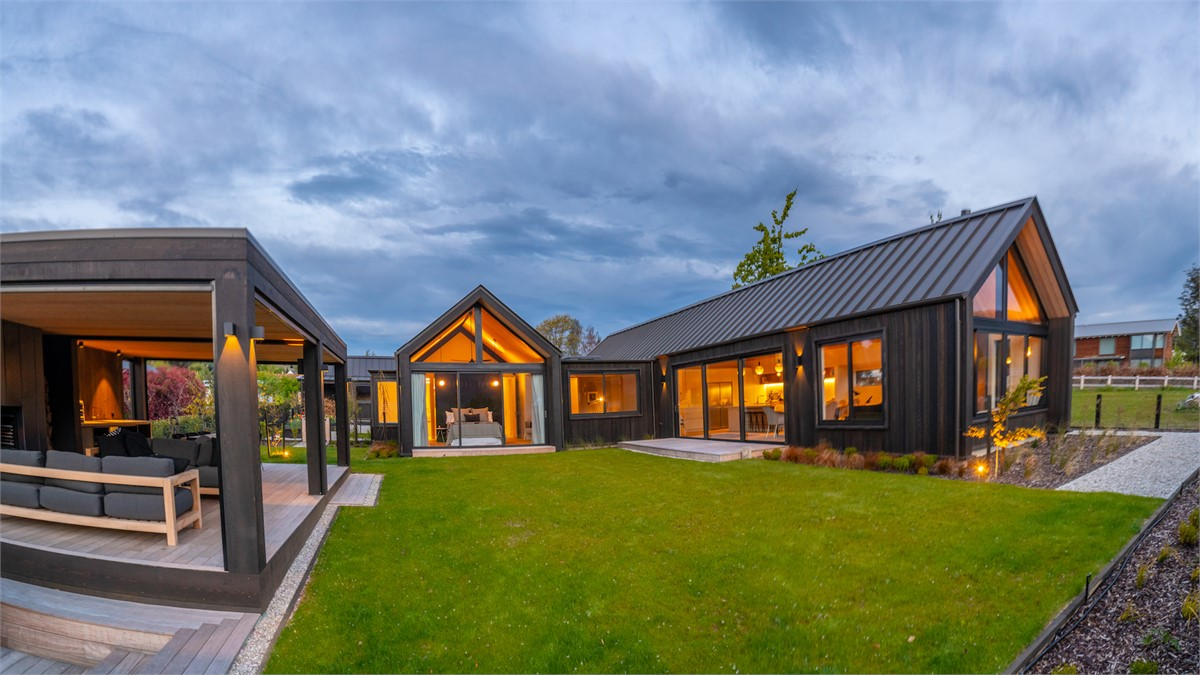Exceptional This Architecturally Designed, Brand New Luxury Holiday Home Looks Sleek  And Modern From The Outside With Its Dark Cedar Cladding And ...