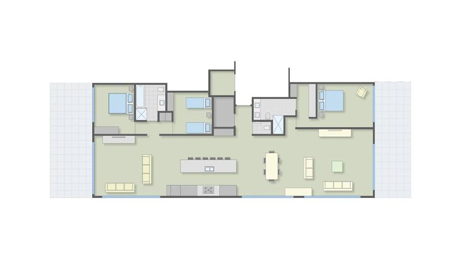 110 lake terrace luxury lake front apartments taupo for Apartment floor plans nz